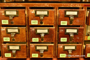 photo of a card catalog